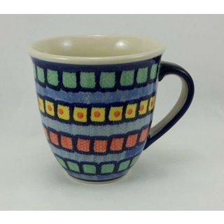 Bunzlauer Keramik Tasse MARS Maxi - Becher - bunt - 0,43 Liter, (K106-10)