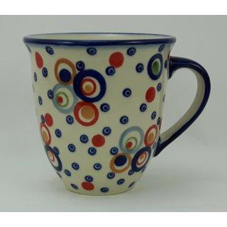 Bunzlauer Keramik Tasse MARS Maxi - bunt - 0,43 Liter, (K106-AS38), U N I K A T