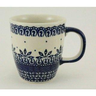 Bunzlauer Keramik Tasse MARS, Becher - blau/weiß - 0,3 Liter, (K081-WA)