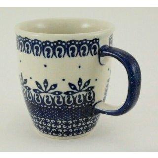 Bunzlauer Keramik Tasse MARS 0,3 Liter blau//weiß Tannenbäume K081-CHDK