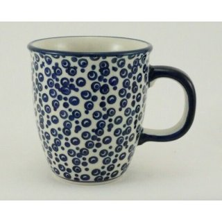 Bunzlauer Keramik Tasse MARS, Becher, blau/weiß - 0,3 Liter, (K081-MAGD), Punkte