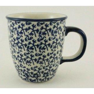 Bunzlauer Keramik Tasse MARS, Becher, blau/weiß - 0,3 Liter, (K081-P364)