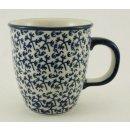 Bunzlauer Keramik Tasse MARS, Becher, blau/weiß -...