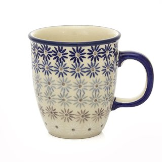 Bunzlauer Keramik Tasse MARS, Becher, Blautöne, UNIKAT - 0,3 Liter (K081-AS55)