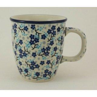 Bunzlauer Keramik Tasse MARS, Becher, Blumen, signiert - 0,3 Liter (K081-AS45)