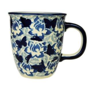 Bunzlauer Keramik Tasse MARS, Becher, Schmetterlinge, UNIKAT, 0,3Ltr (K081-AS56)