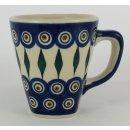 Bunzlauer Keramik Tasse modern eckig - 0,2 Liter,...