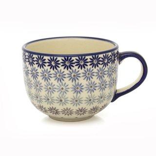 Bunzlauer Keramik Tasse, Cappuccino, Milchcafe, UNIKAT modern, (F044-AS55) 0,45L