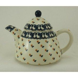 Bunzlauer Keramik Teekanne spitz, Kanne für 0,9Ltr. Tee, Gänse (C005-P322)