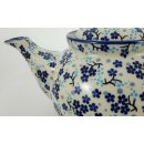 Bunzlauer Keramik Teekanne, für 1,3Liter Tee, (C017-AS45), S I G N I E R T