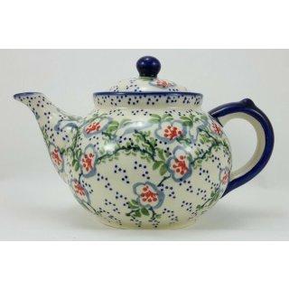 Bunzlauer Keramik Teekanne, für 1,3Liter Tee, (C017-P372) U N I K A T