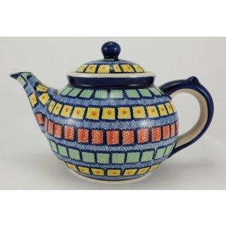 Bunzlauer Keramik Teekanne, Kanne für 1,3Liter Tee, (C017-10), bunt