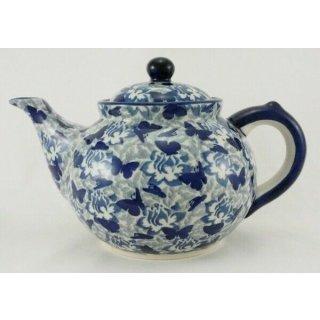 Bunzlauer Keramik Teekanne, Kanne für 1,3Liter Tee, (C017-AS56) U N I K A T