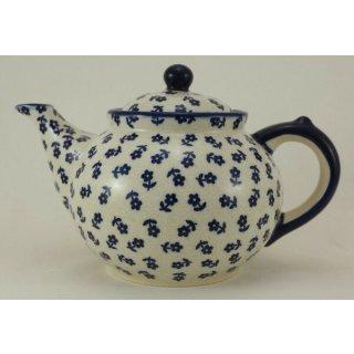 Bunzlauer Keramik Teekanne, Kanne für 1,3Liter Tee, (C017-ASBS) U N I K A T