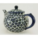 Bunzlauer Keramik Teekanne, Kanne für 1,3Liter Tee, (C017-MKOB) U N I K A T