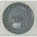 Bunzlauer Keramik Teller, Essteller, Kuchenteller, Frühstück, ø 22cm (T134-604A)