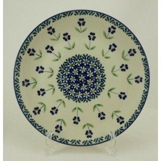Bunzlauer Keramik Teller, Essteller, Kuchenteller, Frühstück, ø 22cm (T134-ASS)