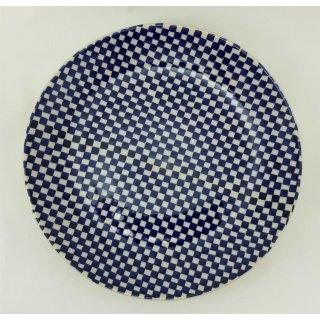 Bunzlauer Keramik Teller, Essteller, Kuchenteller, Frühstück, ø 22cm (T134-KZ3)