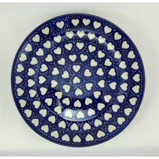 Bunzlauer Keramik Teller, Essteller, Kuchenteller, Frühstück, ø 22cm, (T134-SEM)