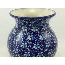 Bunzlauer Keramik Vase, Kugelvase, Blumen, (W003-J109)