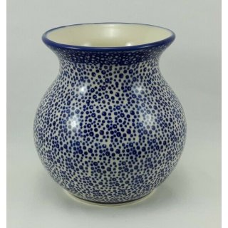 Bunzlauer Keramik Vase, Kugelvase, Pünktchen, (W003-MAGM)