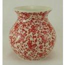 Bunzlauer Keramik Vase, Kugelvase, Rosenblüten,...