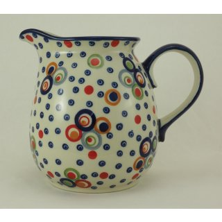 Bunzlauer Keramik Krug; Blumenvase; Milchkrug; 1,4Liter, UNIKAT(D040-AS38)