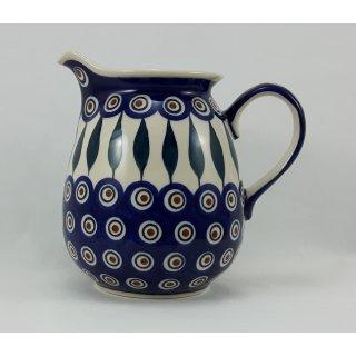 Bunzlauer Keramik Krug; Blumenvase; Milchkrug; 0,9Liter, (D041-54)