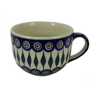 Bunzlauer Keramik Tasse Cappuccino, Milchcafe - 0,45 Liter (F044-54)