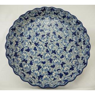 Bunzlauer Keramik Quicheform, Obstkuchen, Auflaufform, Tarteform, UNIKAT (F094-AS56)
