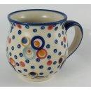 Bunzlauer Keramik Tasse BÖHMISCH MAXI Becher (K068-AS38) - UNIKAT - 0,45Liter