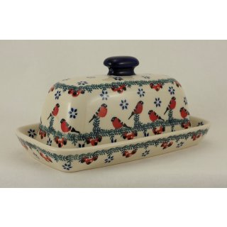 Bunzlauer Keramik Käsedose, Ziegenkäserolle, Harzer, Kräuterbutter (M074-GILE)
