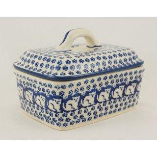 Bunzlauer Keramik Butterdose, Butterkästchen, für 250g Butter (M078-KOT6)