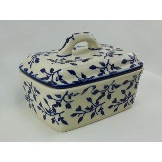 Bunzlauer Keramik Butterdose, Butterkästchen, für 250g Butter (M078-LISK)