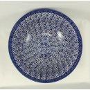 Bunzlauer Keramik Schale MISKA, Schüssel, blau/weiß, Salat, ø24cm, (M092-MAGM)