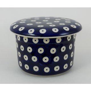 Bunzlauer Keramik Butterdose, Hermetic mit Wasserkühlung, französisch (M136-70A)