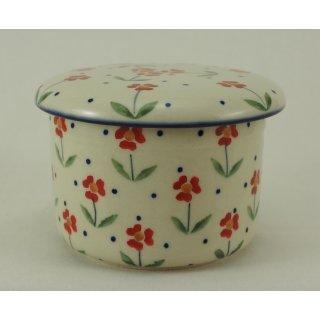 Bunzlauer Keramik Butterdose, Hermetic mit Wasserkühlung, französisch (M136-AC61)