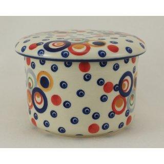 Bunzlauer Keramik Butterdose, Hermetic mit Wasserkühlung, französisch(M136-AS38)