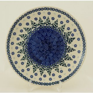 Bunzlauer Keramik  flacher Teller, Essteller, Speiseteller, ø 26cm (T132-U22)