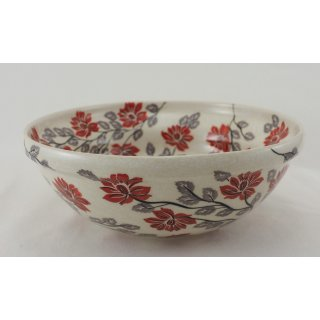 Bunzlauer Keramik Schale MISKA, Schüssel, SIGNIERT, Salat, ø24cm, (M092-KS01)