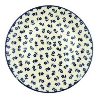 Bunzlauer Keramik Teller, Essteller, Kuchenteller, Frühstück, ø 22cm, UNIKAT (T134-ASBS)
