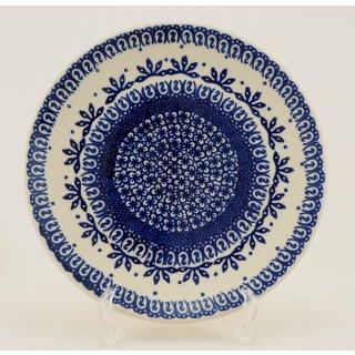 Bunzlauer Keramik Teller, Essteller, Kuchenteller, Frühstück, ø 22cm (T134-WA)