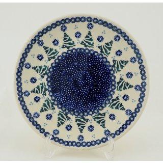 Bunzlauer Keramik Teller, Essteller, Kuchenteller, Frühstück, ø 22cm (T134-U22)