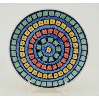 Bunzlauer Keramik Teller, Essteller, Kuchenteller, Frühstück, ø 22cm (T134-10)