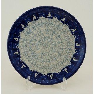 Bunzlauer Keramik Teller, Essteller, Kuchenteller, Frühstück, ø 22cm (T134-LK04)