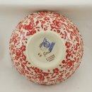 Bunzlauer Keramik Schale MISKA, Müsli, Schüssel, rot/weiß, ø14,5cm, Unikat (M089-GZ32)
