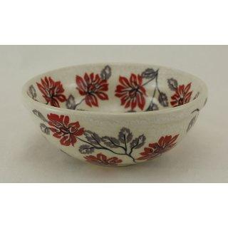 Bunzlauer Keramik Schale MISKA Müsli Schüssel rot/weiß ø14,5cm Signiert (M089-KS01)