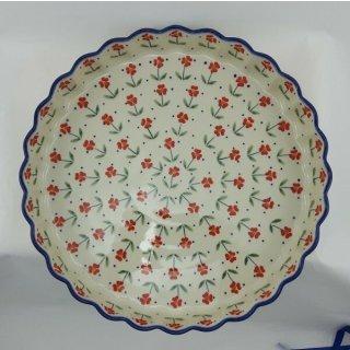 B-Ware Bunzlauer Keramik Quicheform, Obstkuchen, Auflaufform, Tarteform (F094-AC61)