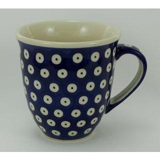 B-Ware Bunzlauer Keramik Tasse MARS Maxi Becher blau/weiß 0,43 Liter (K106-70A)