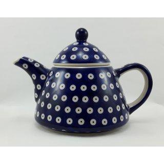 B-Ware Bunzlauer Keramik Teekanne spitz, Kanne für 0,9Ltr. Tee, Punkte (C005-70A)
